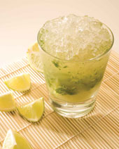 The Mint Caipirinha  recipe